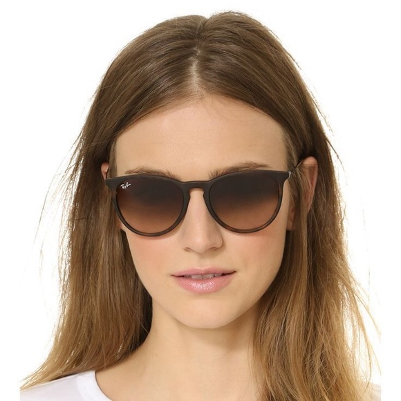 ray ban erika classic brown gradient